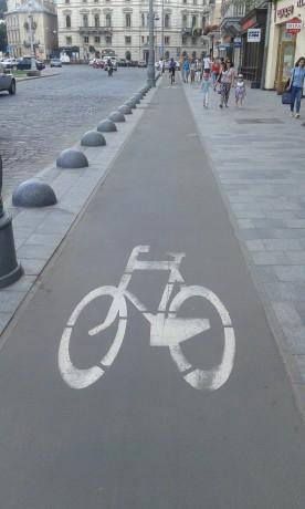 Велодорожки во Львове.