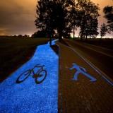 Светящаяся велодорожка в Польше