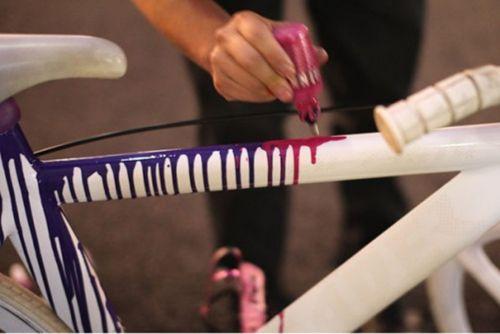 Оригинальная покраска рамы велосипеда