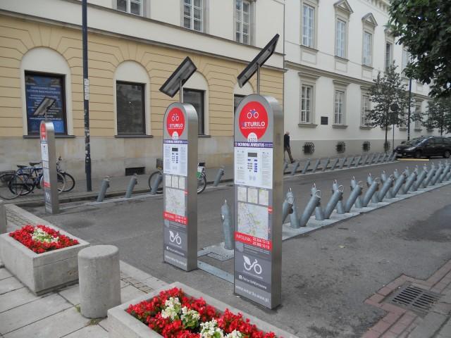 Велостанция в Варшаве.